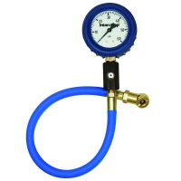 "2.5"" DELUXE, GLOW-IN-THE-DARK, 60PSI AIR PRESSURE GAUGE"